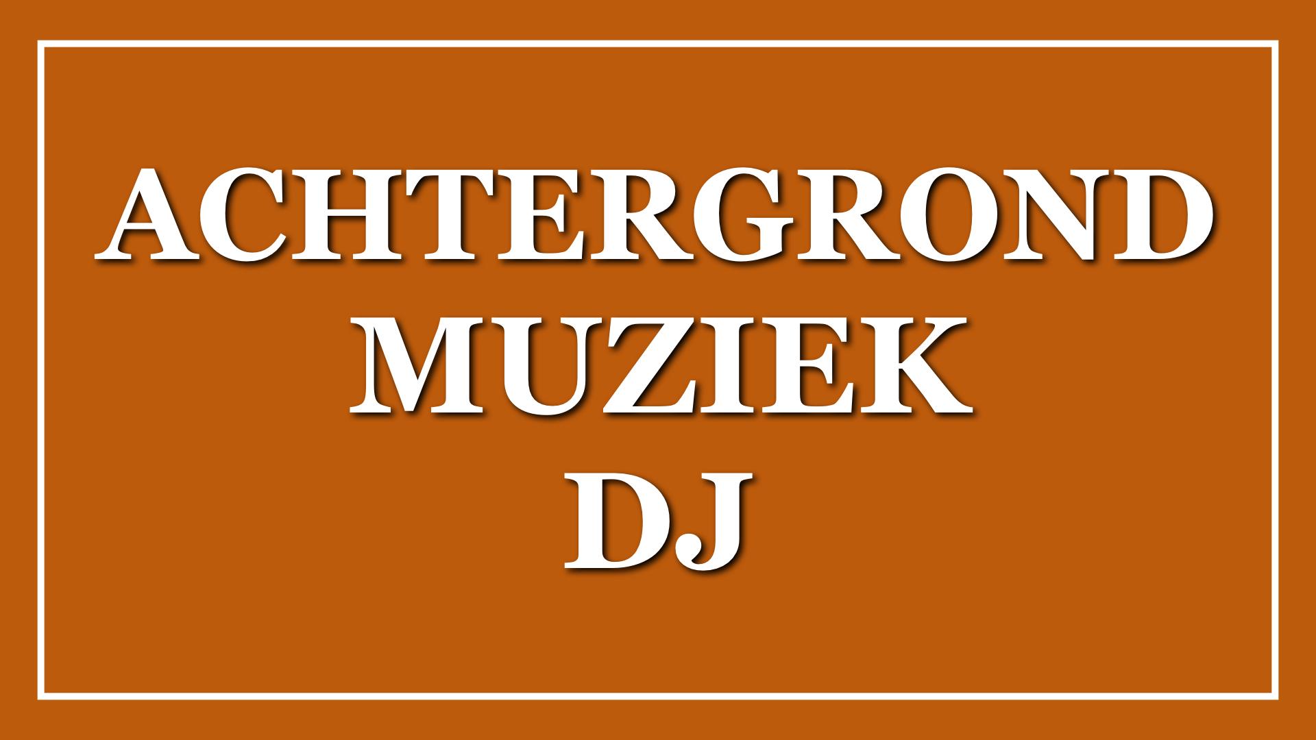 Achtergrondmuziek DJ
