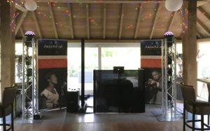 Opstelling Jazz DJ voor bruiloft in Lierop